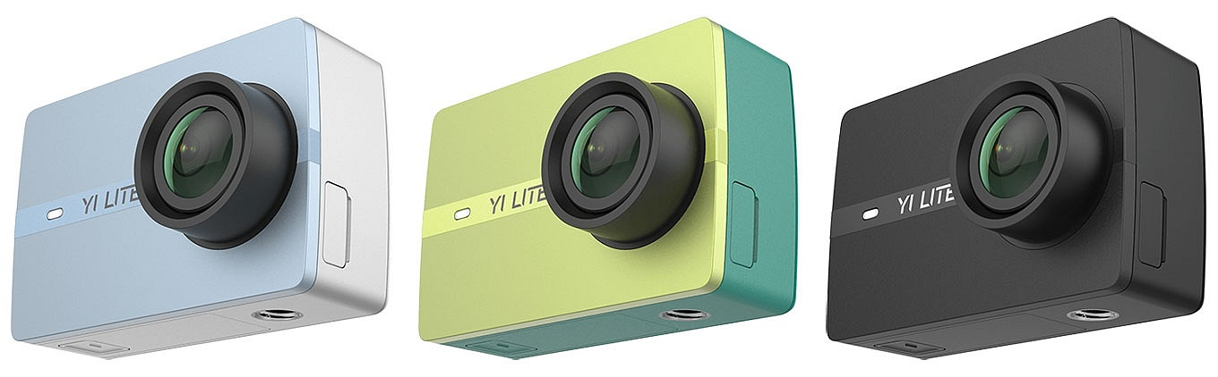 YI Lite Action Camera - Colors Blue, Green & Black