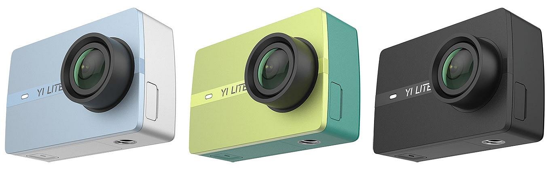 YI Lite Action Camera - Colors Blue, Green & Black