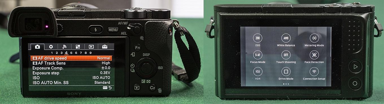 Sony a6300 vs YI M1 - Menu