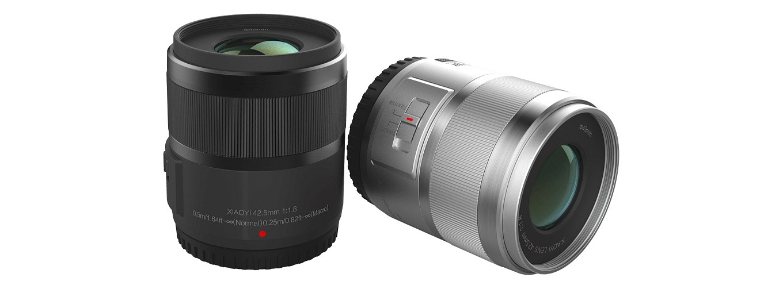YI M1 Mirrorless Camera - 12-42mm zoom & 42.5mm prime lens.