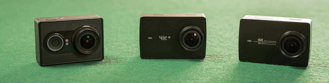 The YI Family: YI Action Camera - YI 4K+ - YI 4K