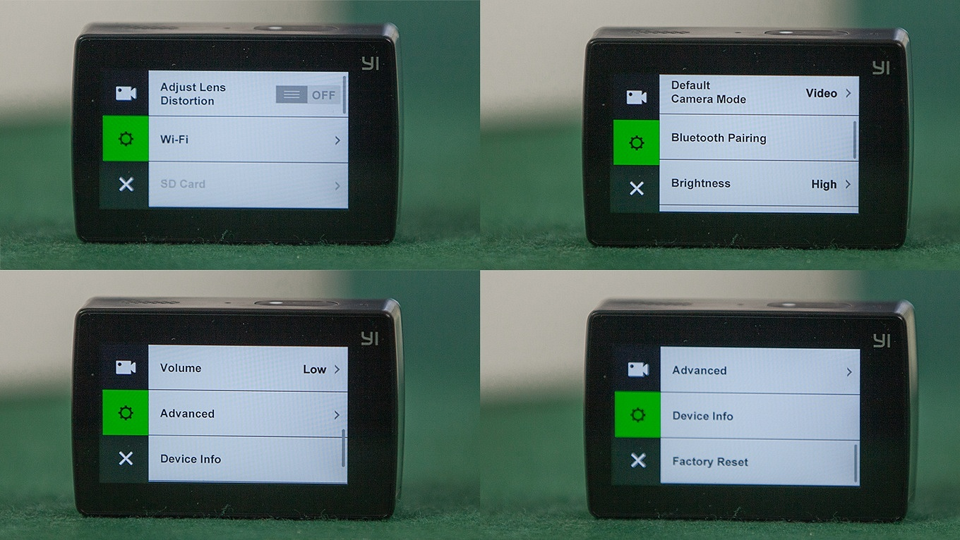 Yi Action Camera 2 - Device Settings