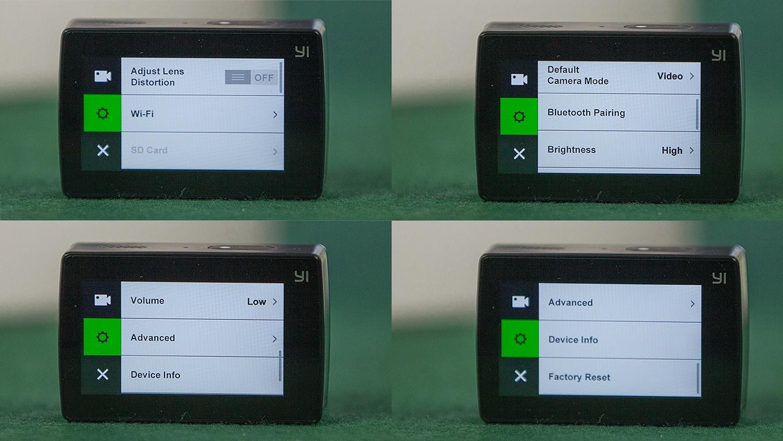 Yi Action Camera 2 - Device Settings