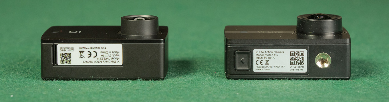 "YI Discovery doesn't offer a 1/4"" tripod mount (compared to all other Yi models)"