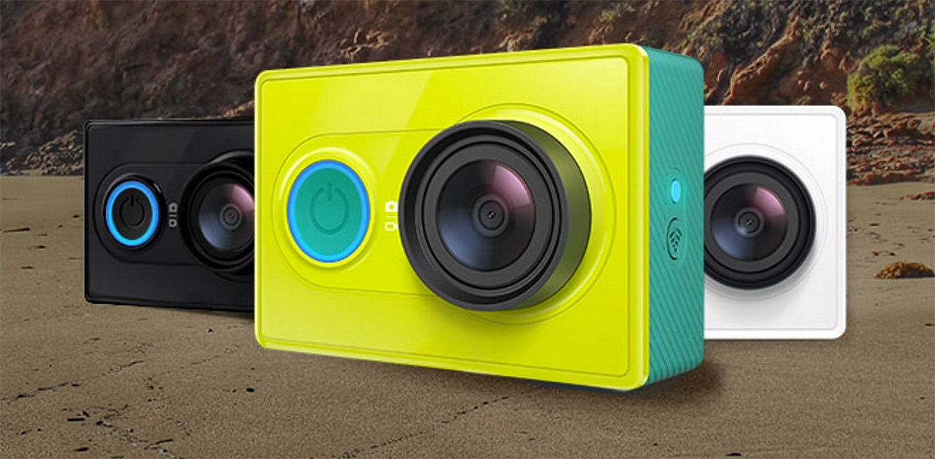 "YI Action Camera: available in ""true black"", ""lime green"" and ""arctic white"""