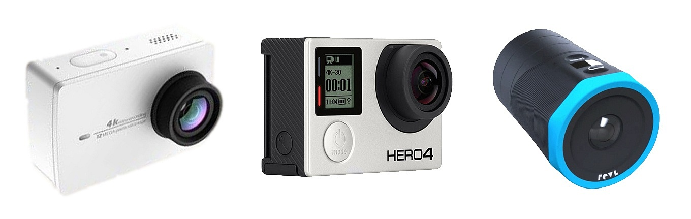 Yi Action Camera 2 vs GoPro Hero 4 black vs Revl Arc
