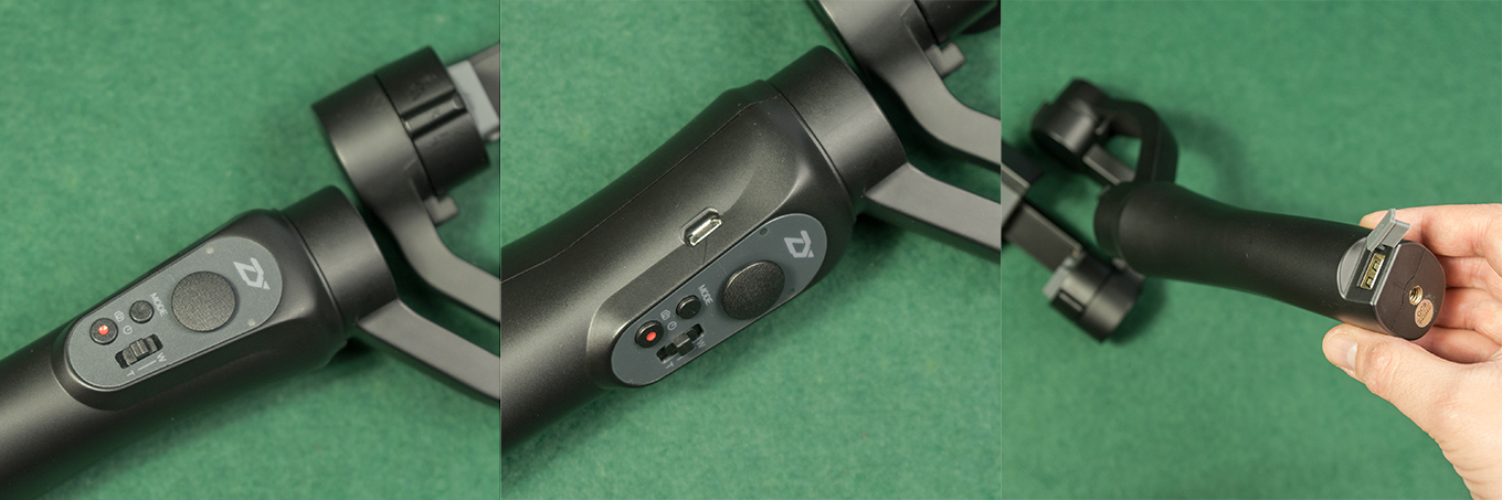 Zhiyun Smooth Q - Body, Buttons & Ports