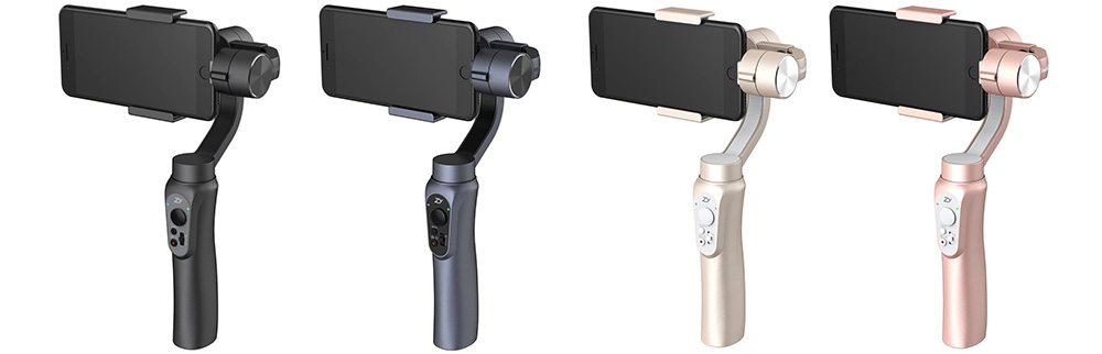 Zhiyun Smooth Q - available in black, grey, gold and rose