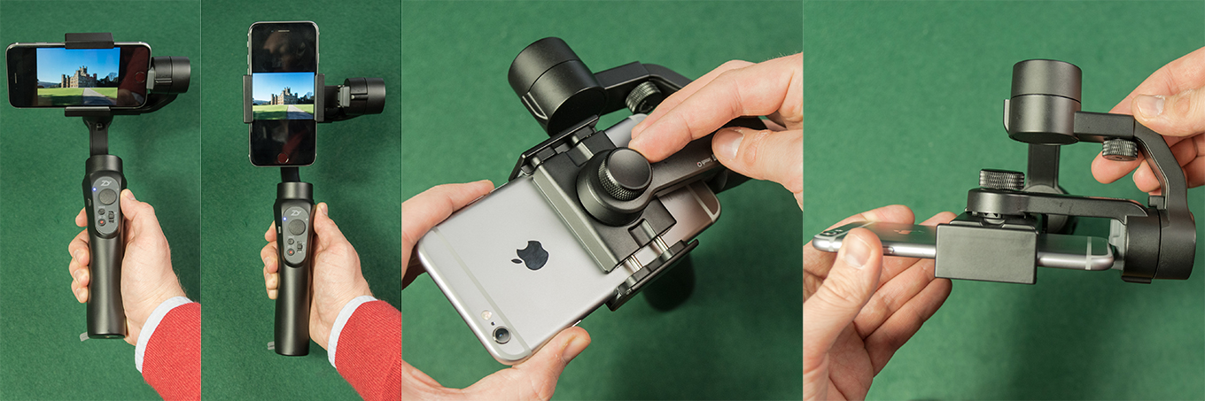 Zhiyun Smooth Q works for landscape and portrait mode