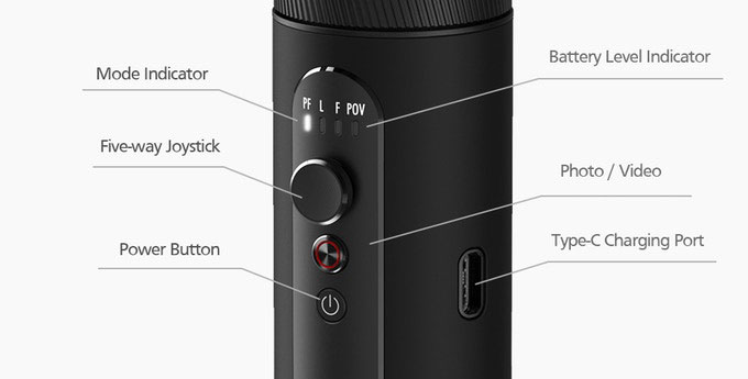 Zhiyun Smooth Q2 - Controls