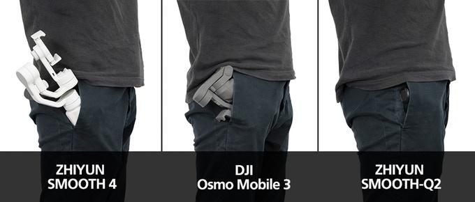 Zhiyun Smooth Q2 vs DJI Osmo Mobile 3 (vs Zhiyun Smooth 4)