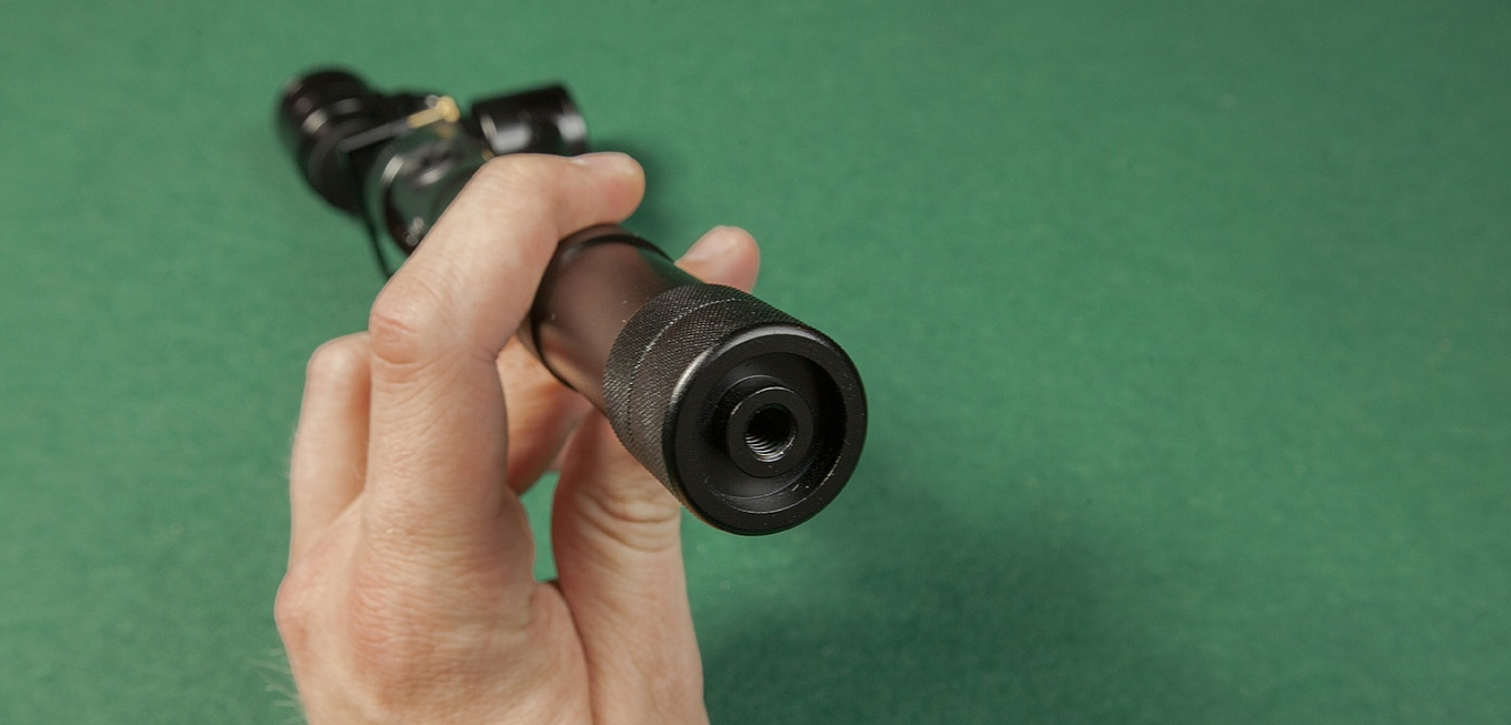 "The Z1-Evolution features a standard 1/4"" thread at the bottom of the grip"