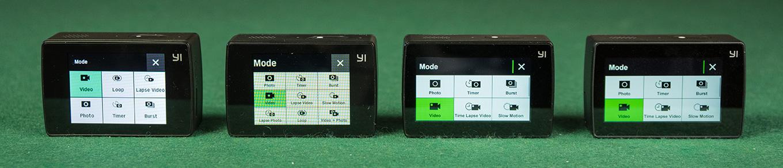 YI Discovery vs YI Lite vs YI 4K vs YI 4K+ - Touchscreen