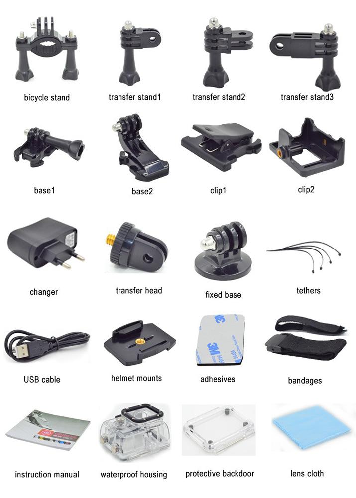 Fake Xiaomi Yi action camera accessories