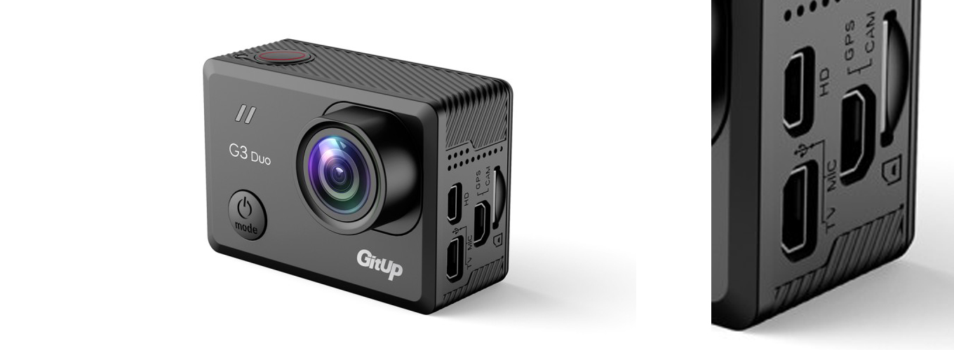 GitUp G3 Duo - Ports