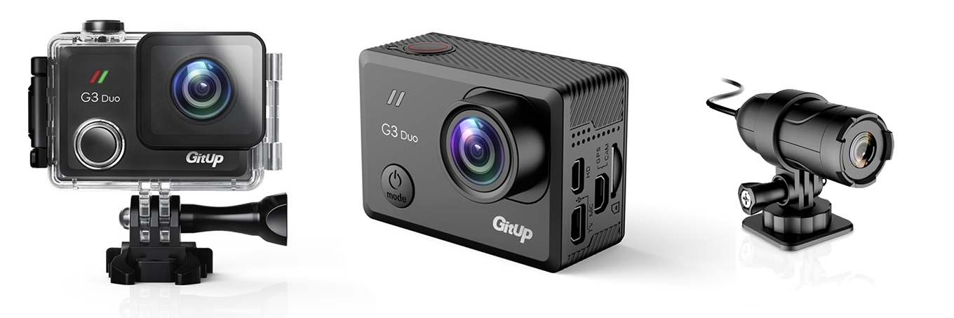 GitUp G3 Duo - with underwater case & slave camera