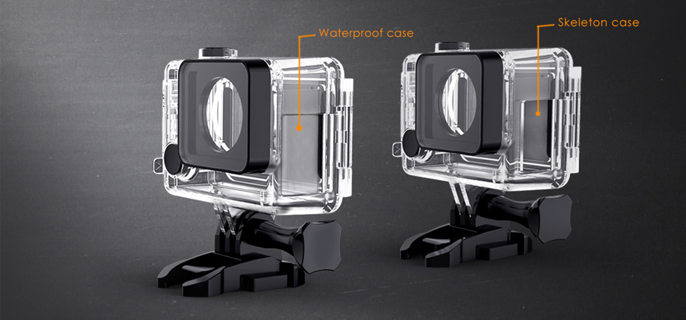 GitUp G3 Duo - Underwater Case & Skeleton Case
