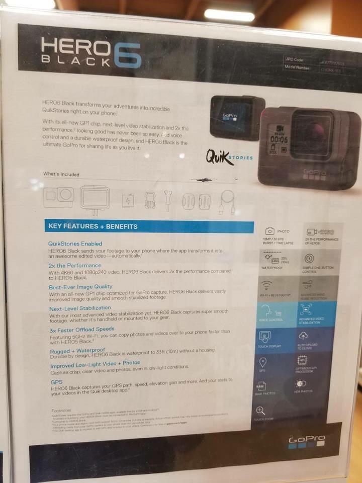 GoPro Hero6 Specs