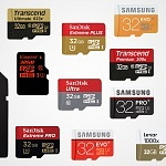 microSD cards for Action Cameras