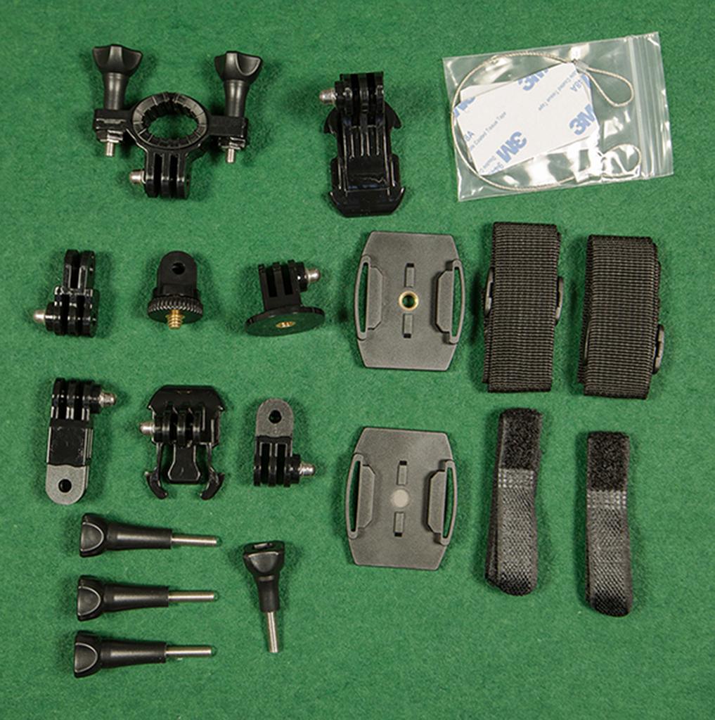 basic action camera mounts set