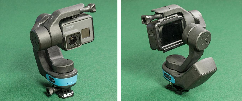 Slick gimbal with GoPro Hero5 black