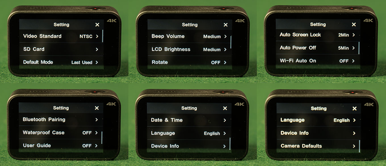 Xiaomi Mijia 4K Action Camera - Camera Settings