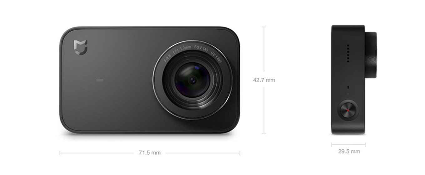Xiaomi Mijia Action Camera - Dimensions