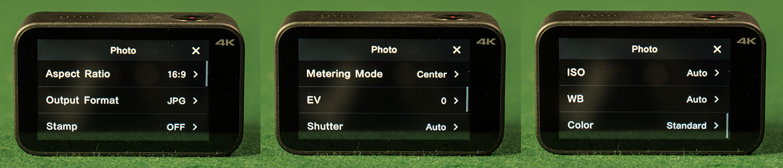 Xiaomi Mijia 4K Action Camera - Photo Settings