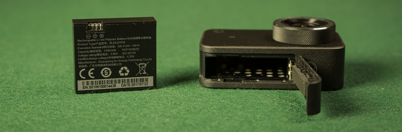 Xiaomi Mijia 4K Action Camera - 1450 mAh battery
