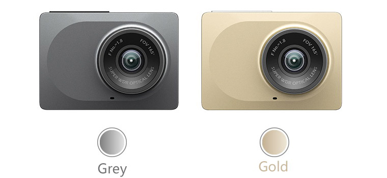 Xiaomi Yi Dashcam available in grey and gold
