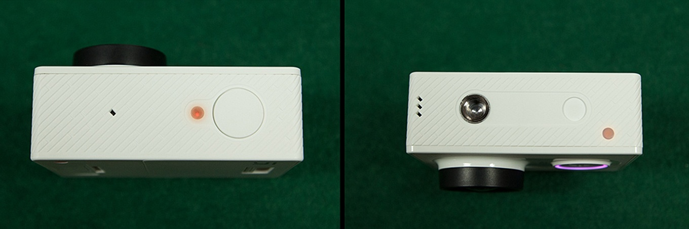 Top and bottom view of the Xiaomi Yi