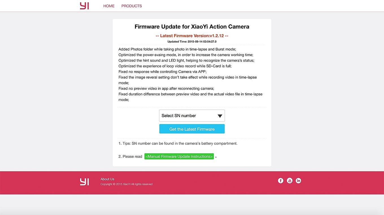 Xiaomi Yi Website